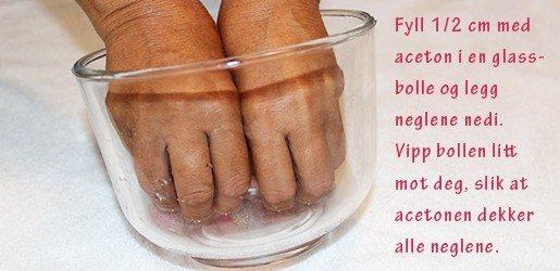 Fjerne gellack med aceton